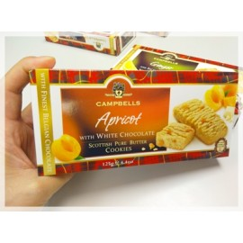 y858-CMBEC622-蘇格蘭名牌CAMPBELLS Apricot & White Choc Cookies	125g x 12 Bags