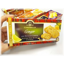 y860- CMBEC271-蘇格蘭名牌CAMPBELLS Ginger & Lemon Cookies	125g x 12 Bags