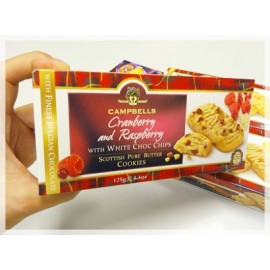 y861-CMBEC288- 蘇格蘭名牌CAMPBELLS Cranberry & Raspberry Cookies	125g x 12 Bags